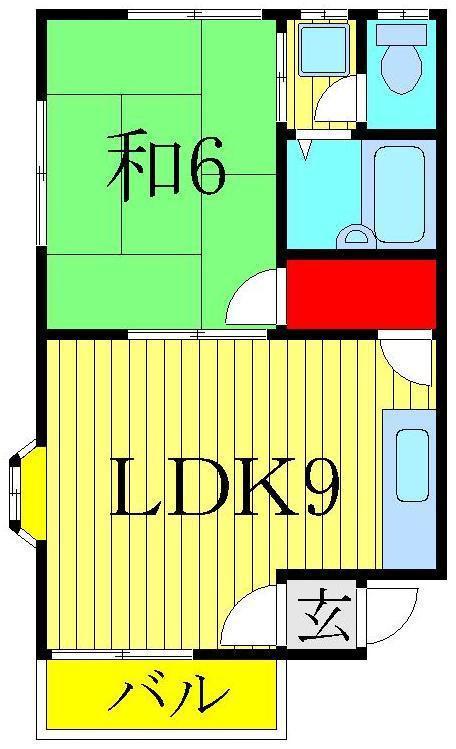元山 徒歩22分 1階 1LDK 賃貸コーポ