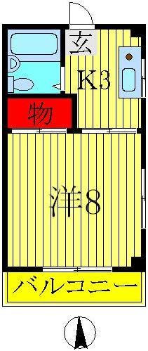 豊四季 徒歩6分 3階 1K 賃貸マンション