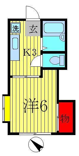 増尾 徒歩28分 2階 1K 賃貸ハイツ