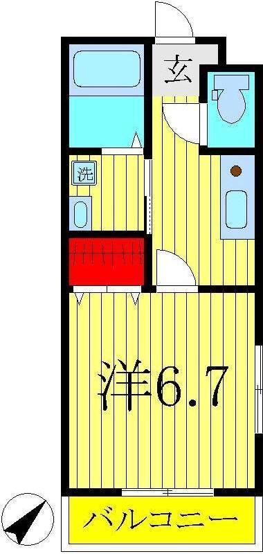 高柳 徒歩7分 2階 1K 賃貸コーポ