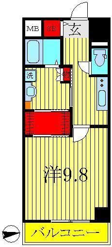 江戸川台 徒歩65分 3階 1K 賃貸マンション