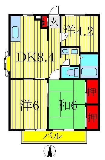 豊四季 徒歩13分 1階 3DK 賃貸コーポ