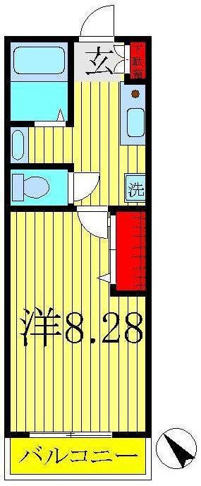 流山おおたかの森 徒歩22分 2階 1K 賃貸マンション