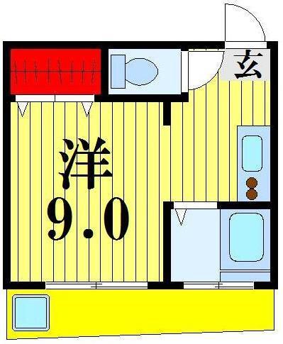 西新井大師西 徒歩5分 2階 1R 賃貸コーポ
