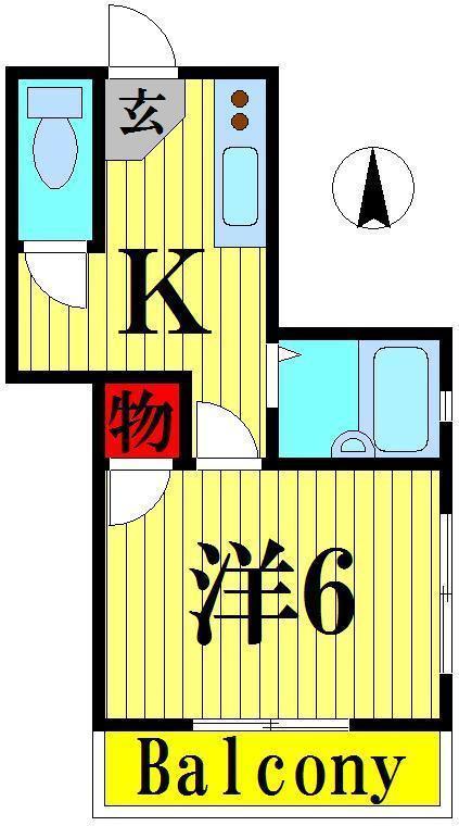 江北 徒歩15分 1階 1K 賃貸マンション