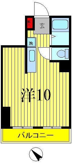 見沼代親水公園 徒歩3分 2階 1R 賃貸マンション