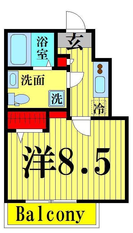 舎人 徒歩13分 2階 1K 賃貸マンション
