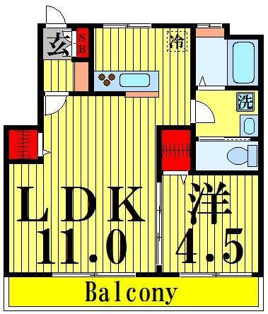 舎人公園 徒歩16分 3階 1LDK 賃貸マンション