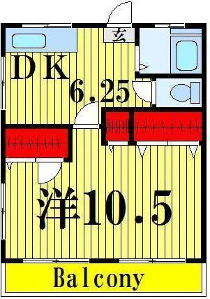 舎人公園 徒歩17分 2階 1DK 賃貸マンション