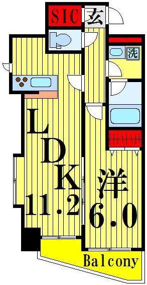 舎人公園 徒歩15分 2階 1LDK 賃貸マンション