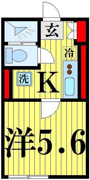 西新井 徒歩18分 2階 1K 賃貸コーポ