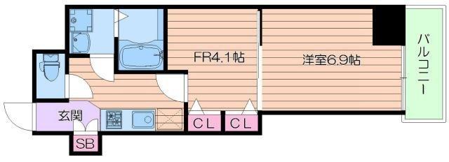 東梅田 徒歩3分 10階 1DK 賃貸マンション