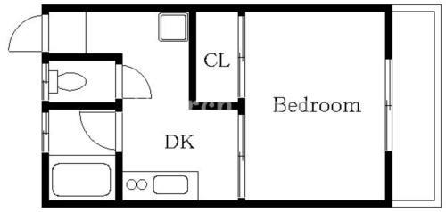 日吉 徒歩12分 2階 1DK 賃貸アパート