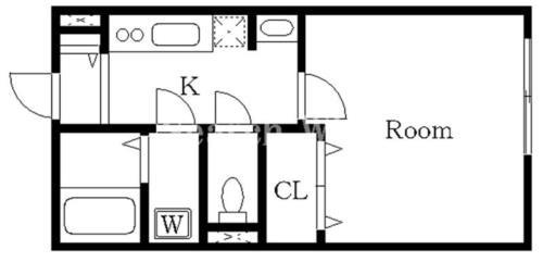 千鳥町 徒歩7分 1階 1K 賃貸アパート