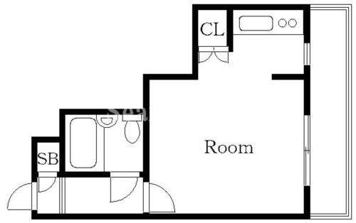 中延 徒歩6分 4階 1R 賃貸マンション