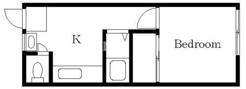 戸越 徒歩6分 3階 1K 賃貸マンション