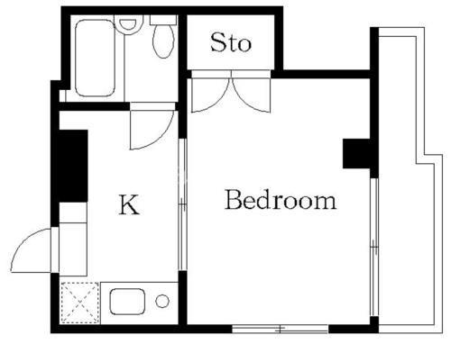 芝浦ふ頭 徒歩9分 5階 1K 賃貸マンション
