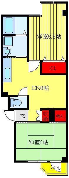 牛田 徒歩11分 2階 2DK 賃貸マンション