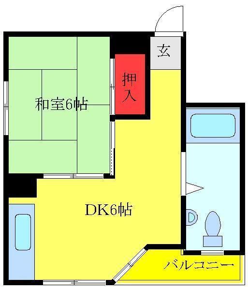 大山 徒歩7分 7階 1DK 賃貸マンション