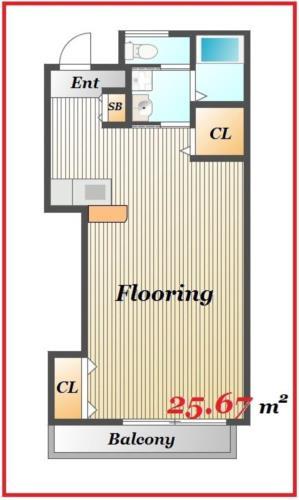 新宿 徒歩22分 2階 1R 賃貸アパート