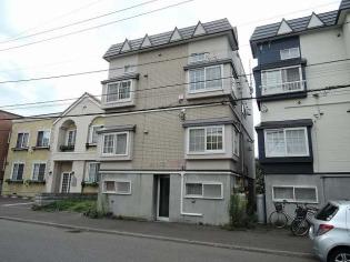 新道東 徒歩10分 3階 1DK 賃貸アパート