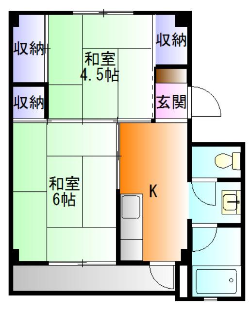 ビレッジハウス国本2号棟 賃貸マンション