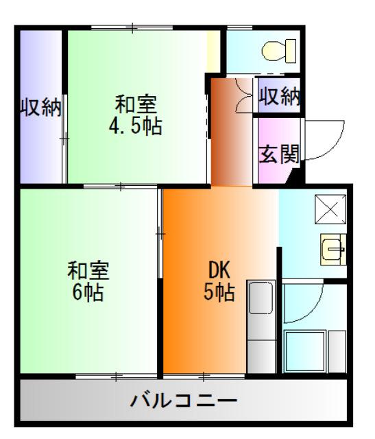 ビレッジハウス国本6号棟 賃貸マンション
