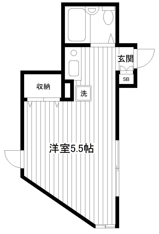 山手 徒歩15分 2階 1R 賃貸アパート