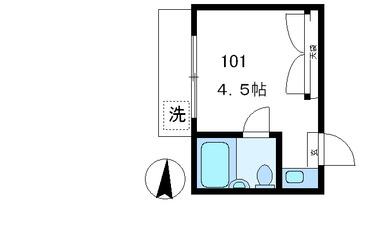 中野 徒歩7分1階1R 賃貸アパート