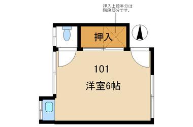 中野 徒歩10分1階1R 賃貸アパート