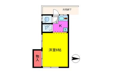 上野コーポ 2階 1K 賃貸アパート