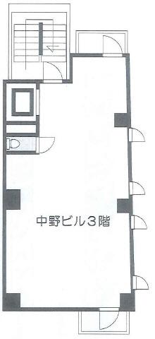 六本木 徒歩2分 3階 24.92坪/中野ビル