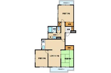 武蔵境 徒歩6分 3階 3LDK 賃貸マンション