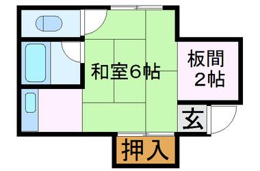 庄内 徒歩8分 2階 1K 賃貸マンション