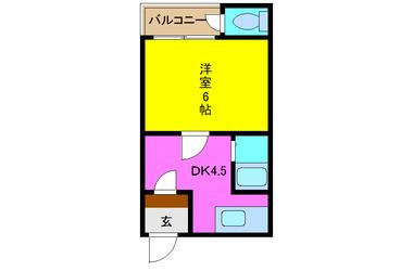 枚岡 徒歩1分 2階 1DK 賃貸アパート