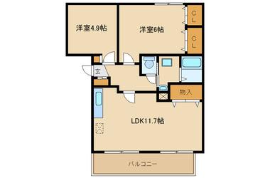 相武台前 徒歩13分 3階 2LDK 賃貸マンション