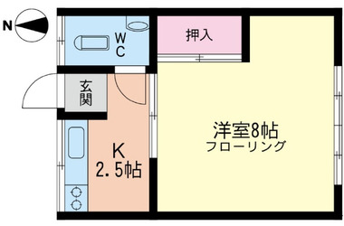 茅ヶ崎 バス8分 停歩4分1階1K 賃貸アパート
