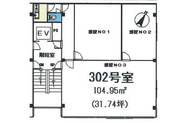 習志野 徒歩3分 3階 12.52坪