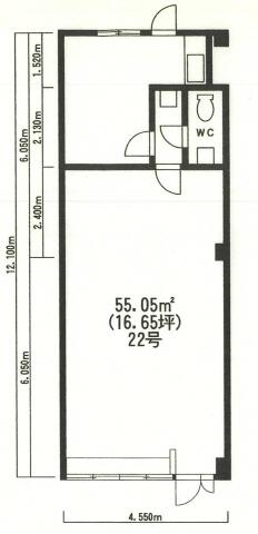 行徳 徒歩6分 2階 16.65坪