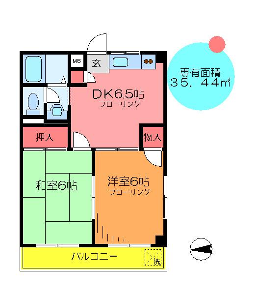 間取り/地積図角部屋