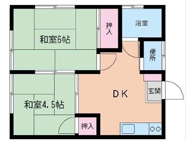 鷺沼 バス20分 停歩2分1階2DK 賃貸アパート