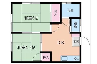 鷺沼 バス20分 停歩2分 1階 2DK 賃貸アパート