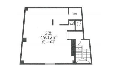 鷺沼 徒歩1分 3階 14.85坪