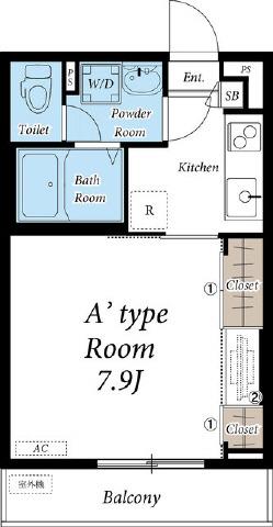 間取り/地積図洋室広々7.9帖 使いやすい間取りです
