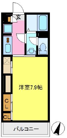 間取り/地積図洋室広々7.9帖