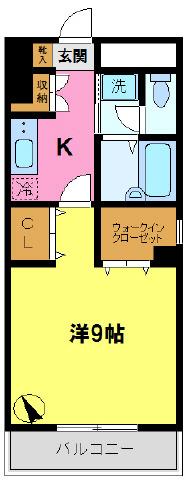 間取り/地積図広々洋室9帖