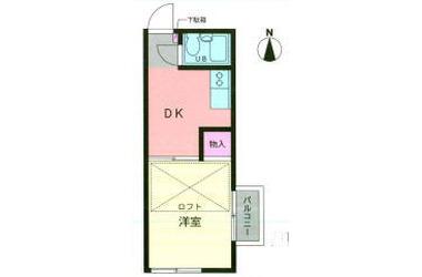 綱島 徒歩10分2階1DK 賃貸アパート