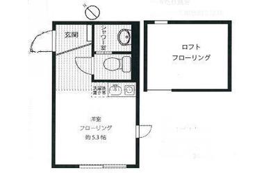 綱島 徒歩21分2階1R 賃貸アパート