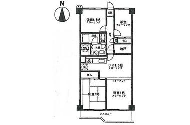 大倉山 バス14分 停歩2分2階4DK 賃貸マンション
