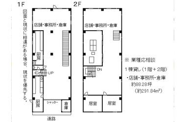 京都 徒歩10分 1階 88.28坪